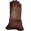 Chocolate Brown Gauntlet Gloves (Unlined)