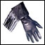 Leather Gloves - Lined Fringed Gauntlet