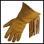 Leather Gloves - Golden Fringed Gauntlet unlined