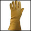Leather Gloves - Lined Golden Gauntlet