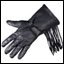 Fringed Deerskin Leather Gauntlet Gloves