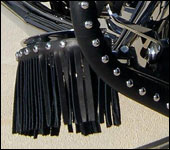 Leather Motorcycle Floorboard Fringe