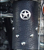 Leather Motorcycle Fork covers