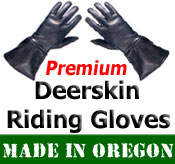 Leather Deerskin Motorcycle Gloves
