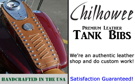 Custom Leather Motorcycle Tank Bras and Bibs