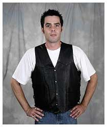 Men's Leather Motorcycle Vests