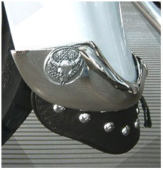 Leather mud flaps