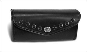 Deluxe 10-inch Windshield Bag - Black Studs (Harley)
