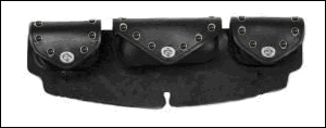 Triple-Pocket Windshield Bag - Black Studs