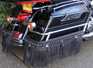 Saddlebag Guard Rail Fringe: Harley Davidson