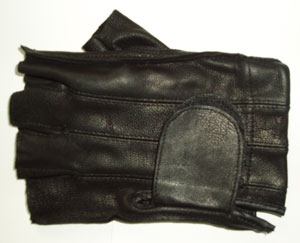 Deerskin Fingerless Gel Pad Gloves