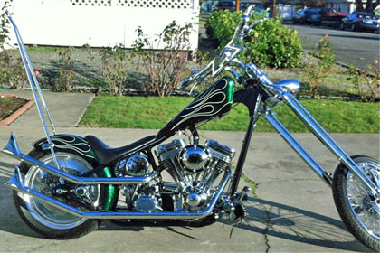 Custom Built Chopper - Chilhowee Motorcycle Leather