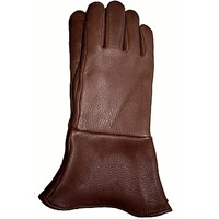 Chocolate Brown Gauntlet Gloves LINED