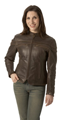 Brown Sporty Scooter Jacket