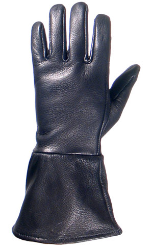 Lined Gauntlet- Handcrafted Leather Gloves