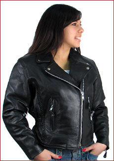 Classic Braided Motorcycle Jacket