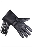 Lined Fringed Deerskin Leather Gauntlet Gloves