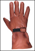 Lined Brown Deerskin Leather Gauntlet Gloves