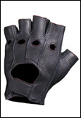 Deerskin Leather Anti-Shock Fingerless Gloves