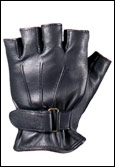 Goatskin Leather Anti-Vibration Fingerless Gloves
