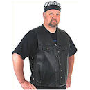 Men's Motorcycle Vest - The Gambler