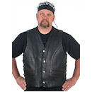 Motorcycle Vest - Naked Leather Buffalo Nickel